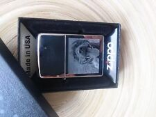PHOTO & TEXTE GRAVÉE EN VÉRITABLE ZIPPO BRIQUET CHROME POLI
