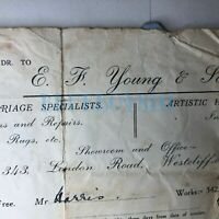 192o Invoice Bill head Yound & Son Baby Carriage Specialists Westcliff  on sea