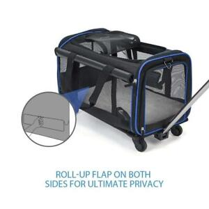 Pet Carrier Rolling Puppy Trolley Rolling Luggage Bag