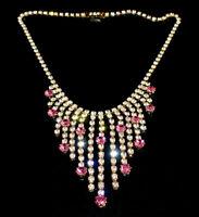 Exklusives Strass Collier - Crystal/Rosa - 1A-Qualität aus Böhmen - #817