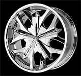 "Verde Mystic Wheel V70    20""  x  9"" Chrome   New in box!  V70C V70-C"
