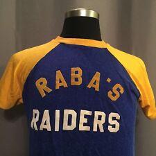 VTG  50s 60s T-shirt Baseball Jersey Blue Gold Raiders College Ringer MacGregor