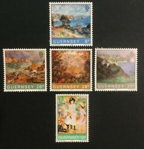 GUERNSEY PAINTINGS 264-268, MNH