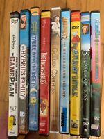 (9) DVD LOT Family Children's Movies Disney Incredibles Stuart Little Game Plan