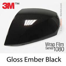 10x20cm FILM Gloss Ember Black 3M 1080 GP282 Vinyle COVERING Series Wrap