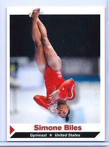 "SIMONE BILES 2014 SI ""1 OF 14 TEAM U.S.A. GYMNASTICS ROOKE CARD! WORLD CHAMPION!"