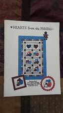 Hearts From The Prairie Doll Country Quilt Pattern Free Shipping
