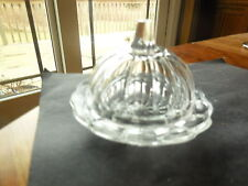 "EAPG - Cambridge Glass Co. #2630 ""Colonial"" child's crystal butter dish"