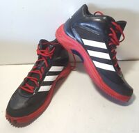 NEW Adidas ASP Intimidate Turf Black/Red/White Football Cleats Mens S85717