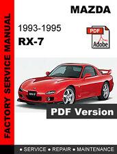 rx manual mazda rx7 rx 7 1993 1995 factory oem service repair workshop shop fsm manual
