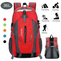 36L Travel Hiking Backpack Waterproof Shoulder Bag Pack Outdoor Camping Rucksack