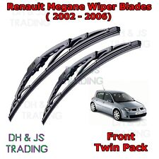 "(02-06) Renault Megane Mk2 frente Wiper Blades Parabrisas 24"" 18"" Gancho Tipo Limpiaparabrisas"