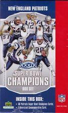 2005 Upper Deck Super Bowl New England Patriots Champions XXXIX Set 50 Cards NIB