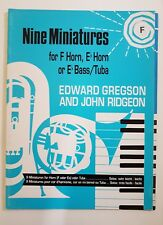 Edward Gregson/John Ridgeon: Nine Miniatures for Horn in F (Music Book)