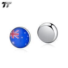 TT 10mm Stainless Steel Australia Flag Magnet Earrings (bm08)
