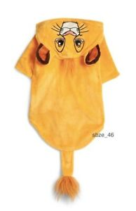 DISNEY THE LION KING SIMBA DOG COSTUME/ PET OUTFIT/ COAT BRAND NEW PRIMARK