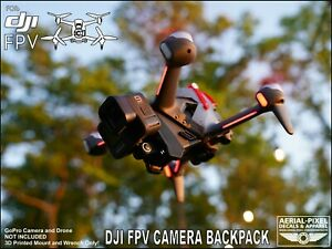 DJI FPV Camera Backpack Rear Camera GoPro Style Mount and Battery Protector