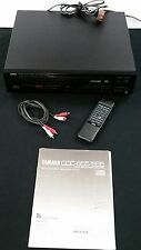 YAMAHA CDC-655 5 DISC CD PLAYER WITH REMOTE MANUAL RCA CORD  TESTED AND WORKING