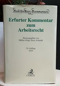 Erfurter Kommentar zum Arbeitsrecht Müller-Glöge 2018 - 18.Auflage - Kommentar