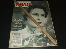 "Ilse Werner … on cover … 1954 … german magazine ""REVUE"""