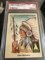 1959 Fleer Indian #14 Chief Washakie PSA 9