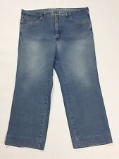 Corona jeans W41 tg 54 55 blu accorciati straight gamba dritta usati uomo T1992