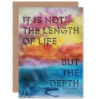Friendship Long Life Depth Quote Blank Greeting Card With Envelope