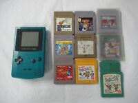 L954 Nintendo Gameboy Color console Blue & Game Japan GBC x