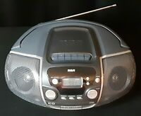 RCA Portable Stereo Boombox RCD175 CD / Tape Player AUX / Cassette Radio AC/DC