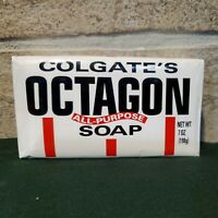 NEW Vintage Antique Colgate's Octagon All-Purpose Large Soap 7 oz Sealed