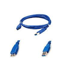 2m Usb 3.0 Tipo A Macho A B Micro de datos de sincronización Poder Hdd Disco Duro Lead Cable