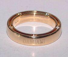 DAMIANI 18K Yellow Gold Diamond Ring Eternity 4mm Band Size 4 Brad Pitt + BOX