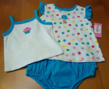 "KIDGETS 3PC INFANT BABY GIRLS  ""BLUE/ICECREAM"" SET  SIZE  6-9 MONTHS  NWT"