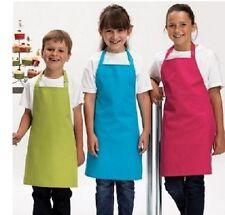 Per Bambini Ragazze, Ragazzi Piatto Policotone Grembiule in 12 Colori