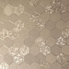 FOIL HONEYCOMB WALLPAPER GEOMETRIC METALLIC - ARTHOUSE CHAMPAGNE GOLD 294701