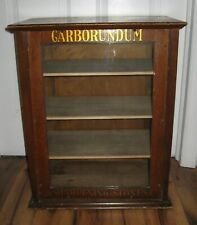 ANTIQUE WOODEN CARBORUNDUM SHARPENING STONES COUNTRY STORE COUNTER DISPLAY CASE