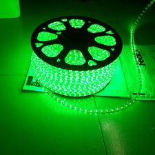 Green 120V 250V High Power SMD3528 Flexible LED Strip Rope Lamp Light Custom Cut