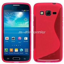 Rosa S-Line Custodia cover aderente in gel per SAMSUNG GALAXY EXPRESS 2 SM-G3815