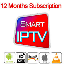 12 Month IP TV Subscription Android Box Smart TV MAG STB VLC Adult World Channel