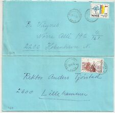2 COVERS  NORGE NORVEGE TO DENMARK and LILLEHAMMER. L461