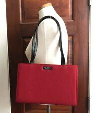 VTG Kate Spade Red Wool Felt Rectangular Shoulder Bag