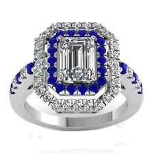 Fashion Square Shape 2.95ct White Sapphire 925 Silver Wedding Ring Size 7