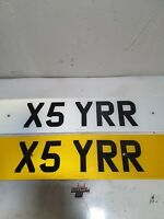 Number Plate Reg Registration ( X5 YRR ) on retention