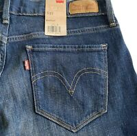 Womens Size 6 Levi's 515 Bootcut Dark Wash Faded Jeans