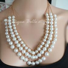 Modeschmuck-Halsketten & -Anhänger aus Strass und Metalllegierung Perlen
