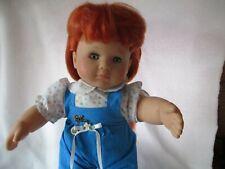 """Red Hair Light Blue Eyes Zapf Puppen Diemit Spielen Vinyl Doll 18"""" Tall"""