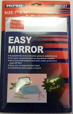 """Replacement Mirror 7"""" x 10"""" Polyway Car, Truck Stick on Universal #EM3127"""