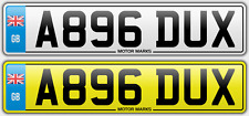 PRIVATE NUMBER PLATE A896 DUX - DUX DUCATI CAR BIKE NICE CHEAP DUX NUMBER DUCATI