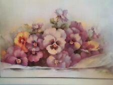 China Painting Studies - Pansies by Frances Braxton
