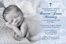 Christening Baptism Baby Shower invitation JPEG file only - PRINT YOURSELF 6X4
